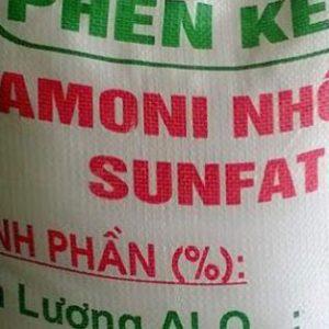 Phèn kép nhôm sunfat NH4Al(SO4)2, Việt Nam, 25kg/bao